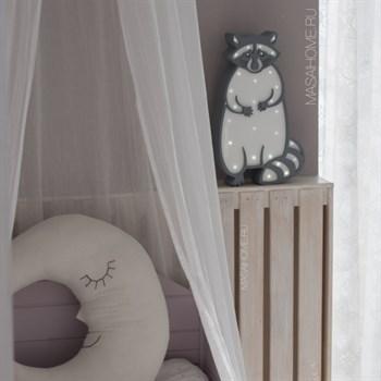 "Ночник ""Енотик"" серый+белый - фото 4493"