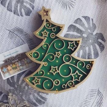 Елочка золото+зеленый - фото 4508