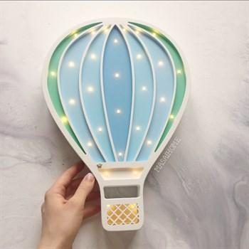 """Детский ночник """"Воздушный шар"""" Masaihome белый+голубо-зелёный - фото 4516"""