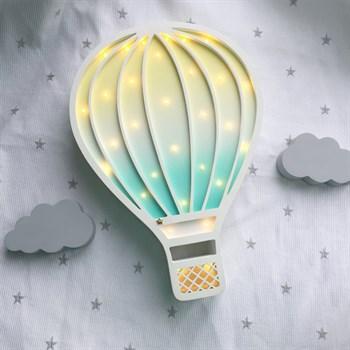 Воздушный шар белый+ванильно-мятный градиент - фото 4546