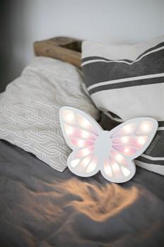 """Ночник   M """"Бабочка"""" бел+роз - фото 4556"""