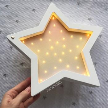 Звезда белый+металлик градиент - фото 4562