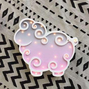 """Ночник детский """"Барашек"""" Masaihome бел+серо-роз  градиент - фото 4587"""