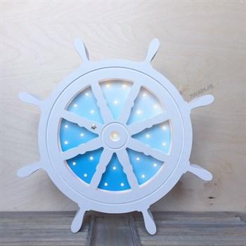 Ночник Штурвал-морской градиент - фото 4630