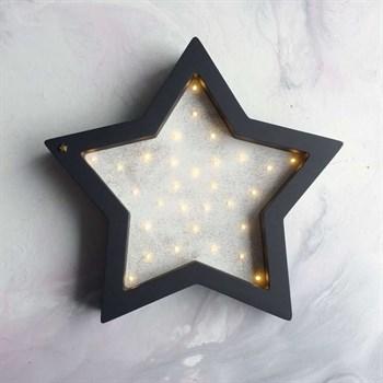 Ночник Звезда антрацит+лунный эффект - фото 4632
