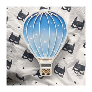 """Детский ночник """"Воздушный шар"""" Masaihome белый+сине-голубой градиент - фото 4646"""