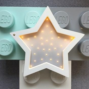 "Ночник из дерева ""Звезда"" Masaihome белый+бежево-серый градиент - фото 4647"
