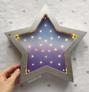 Ночник Звезда  Masaihome сербро+комический  градиент - фото 4660