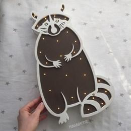 "Ночник ""Енотик"" белый+шоколад"