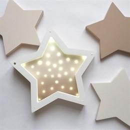 """Ночник деревянный """"Звезда"""" и декор Masaihome"""