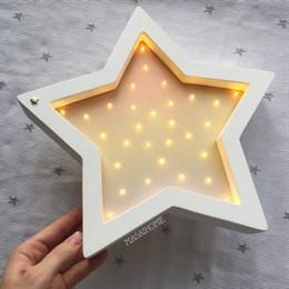 Звезда белый+металлик градиент