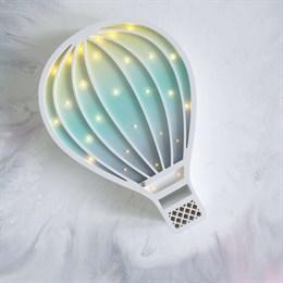 """Ночник """"Воздушный шар"""" ванильно-серо-мятный градиент"""