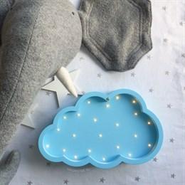 """Ночник в детскую """"Облако"""" голубой"""