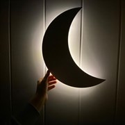 Луна с бэксайд подсветкой
